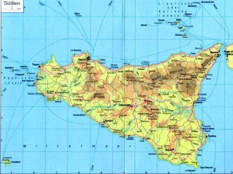 Cartina Sicilia Immagini.Sentieri In Sicilia